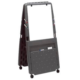 Iceberg Presentation Flipchart Easel with Dry Erase Surface - Charcoal