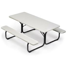 """IndestrucTable TOO Picnic Table - Platinum - 72"""""""