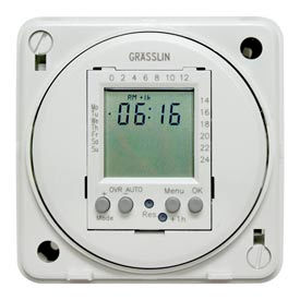 Intermatic FM1D20E-24 Electronic 24-Hour/7-Day Timer Module, Flush Mount, 15A, 24V, 50/60Hz