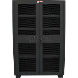 "Jamco Heavy Duty Cabinet Clearview Doors Four Shelves, Welded 60""W x 24""D x 78""H Gray"