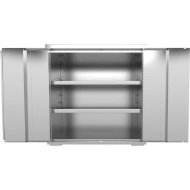 """Stainless Steel Cabinet - Assembled 48""""W x 24""""D x 37""""H"""