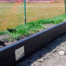 Chemin de fer en plastique recyclé Ties 8 pi de Long, noir