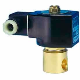 "Jefferson Valves, 1/4"" 2 Way Solenoid Valve General Purpose 120V AC Forged Brass Body Direct Acting"