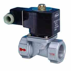"Jefferson, 1"" 2 Way Solenoid Valve For Fuel Gas And Other Gases 12V DC Injected Aluminium Body"