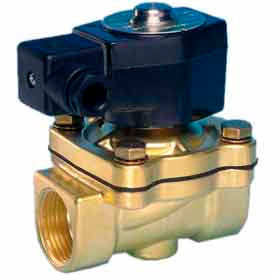 """Jefferson Valves, 3/8"""" 2 Way Solenoid Valve For General Purpose s 24V DC Forged Brass Body"""