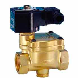 "Jefferson Valves, 1"" 2 Way Solenoid Valve For General Purpose 24V AC Forged Brass Body Body"