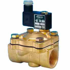 """Jefferson Valves, 1"""" 2 Way Solenoid Valve For General Purpose 120V AC Forged Brass Body"""