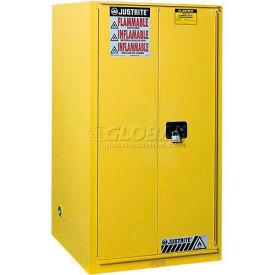 "Justrite 96 Gallon 2 Door, Manual, Paint & Ink Cabinet, 34""W x 34""D x 65""H, Yellow- Pkg Qty 1"