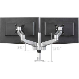 RightAngle Hover™ Monitor Arms Post Mount for 2 Monitors w/2 Extension Brackets