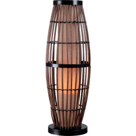 Lampe de table BiscayneKenroy Lighting,32247RAT, fini rotin avec accents bronze, plastique, 11 po L