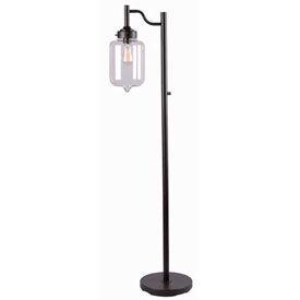 "Mahjoub éclairage, lampadaire de Casey, 32408ORB, huile fini Bronze huilé, métal, 12 ""L"
