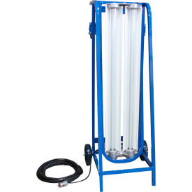 Larson Electronics EPLCD-48-2L-LED-1227-5600K-1523, Expl Proof Paint Spray Booth LED Light on Cart