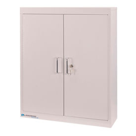 """Lakeside® Medical Storage Cabinet with 4 Adjustable Shelves, 24""""W x 8""""D x 30""""H. Beige"""