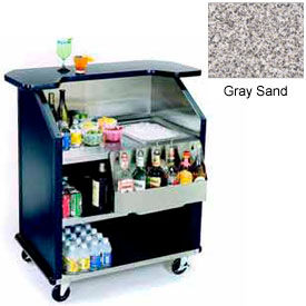 "Geneva Lakeside 43"" Portable Beverage Bar, SS Interior, 884-GreySand"