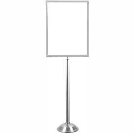 "Tensator Satin Chrome Heavy Duty 22""x28"" Traditional Sign Stand"