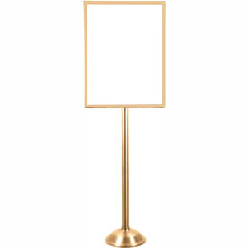 "Tensator Satin Brass Heavy Duty 22""x28"" Traditional Sign Stand"