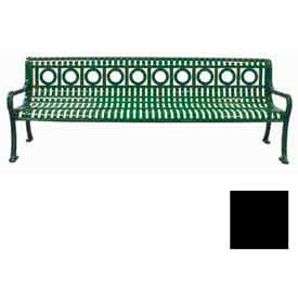 8' Ring Pattern Bench - Black