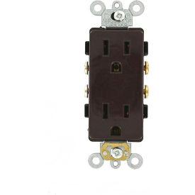 Leviton 16242 15A, 125V, Decora Plus Duplex Receptacle, Commercial Grade, Brown