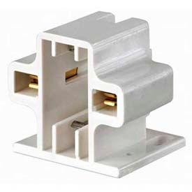White Leviton 26719-400 Compact Fluorescent Lampholder