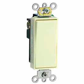 Leviton 5691-2E 15A, 120/277V, Decora Plus Rocker Single-Pole AC Quiet Switch, Black