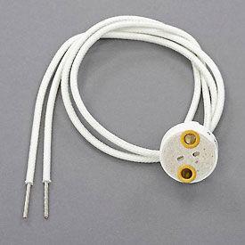 Leviton 80054 Miniature Bi-Pin Base, G4, G6.35, GY6.35, GX5.3 MR16, GZ4 MR11 Halogen Lampholder