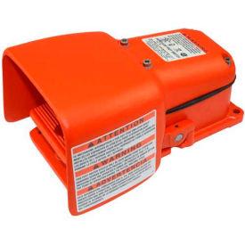 LineMaster 571-DWH Hercules Foot Switch W/Full bouclier, maintenu, Orange, fonte/aluminium