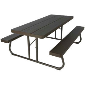 Lifetime® 6-Foot Faux Wood Fold-Away Picnic Table