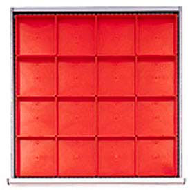 """SC Drawer Layout, 16 Plastic Boxes 2"""" H"""