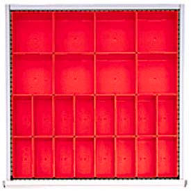 """SC Drawer Layout, 24 Plastic Boxes 2"""" H"""