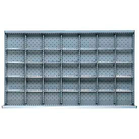 "MW Drawer Layout, 35 Compartments 5"" H"