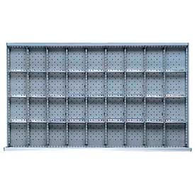 "MW Drawer Layout, 36 Compartments 3"" H"