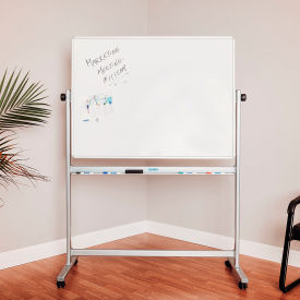 Rolling Magnetic Dry Erase Whiteboard - Reversible - 48 x 36