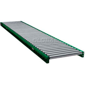 "Ashland 10' Straight Roller Conveyor 10F10KG03B22 - 22"" BF - 1.9"" Roller Diameter - 3"" Axle Centers"