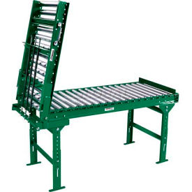 """Ashland 3' Spring Assisted Roller Conveyor Gate - 22"""" BF - 1.9"""" Roller Diameter - 3"""" Axle Centers- Pkg Qty 1"""