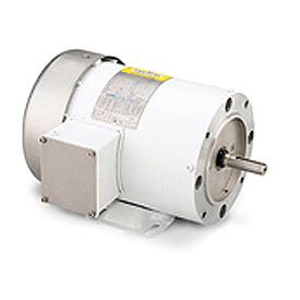 Leeson Motors Motor Washdown Motor-1/4HP, 208-230/460V, 1725RPM, TEFC, RIGID C, 1.15 SF, 0 Eff