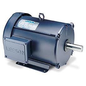 Leeson Motors Motor Electric Motors-2/1HP, 208-230V, 1740/860RPM, TEFC, Rigid Mount, 1.0 S.F.