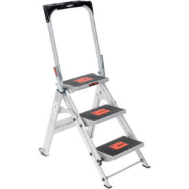 Little Giant® Safety Aluminum Step Ladder - 3 Step - 10310BA