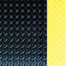 Crown #550 Workers-Delight™ Ultra Deck Plate W/ Zedlan Foam Backing 2'X3' Black/Yellow