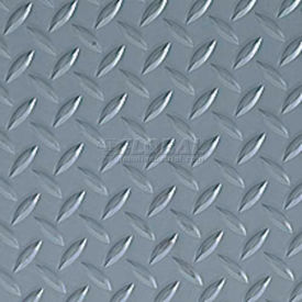 Crown #550 Workers-Delight™ Ultra Deck Plate W/ Zedlan Foam Backing 3'X5' Gray
