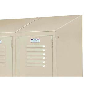 "Lyon Right And Left Slope Top DD5842 For Lyon Lockers- 12""D - Gray"