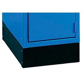 "Lyon E-Z Base Kit 18""D For 1 Wide Lockers KK58801 - Black- Pkg Qty 1"