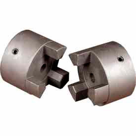"Cast Iron Jaw Coupling Hub, Style L050, 3/8"" Bore Diameter, No Keyway"