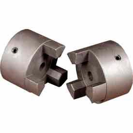 "Cast Iron Jaw Coupling Hub, Style L225, 2 1/2"" Bore Diameter, 5/8 x 5/16 Keyway"