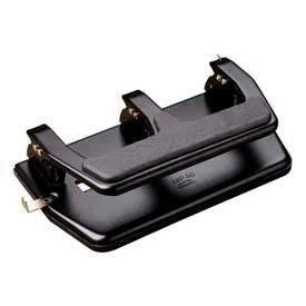 Master® MP40 3-Hole Punch, 30 Sheet Capacity, Black