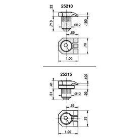 Mitee-Bite 25210 - Kopal® Mini Clamps - Low Profile Clamp - Min Qty 2
