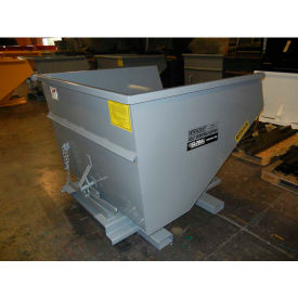 Stacking Feature for 1-1/2 Cu Yd and Larger Wright Self-Dumping Hoppers - Yellow