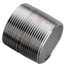Ss 304/304l Schedule 40 Seamless Pipe Nipple 1-1/4xclose Npt Male - Pkg Qty 20