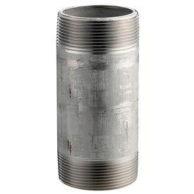 Ss 316/316l Schedule 40 Welded Pipe Nipple 2-1/2x4 Npt Male - Pkg Qty 10