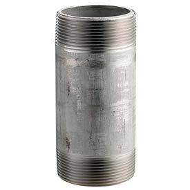 Ss 316/316l Schedule 80 Seamless Extra Heavy Pipe Nipple 1-1/2x4-1/2 Npt Male - Pkg Qty 10