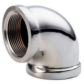 Chrome Plated Brass Pipe Fitting 1-1/4 90 Degree Elbow Npt Female - Pkg Qty 10